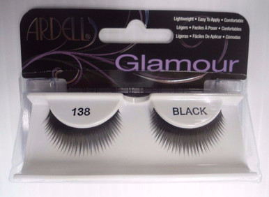 Ardell Strip Lashes Glamour Style 138 Black (Pack of 4)