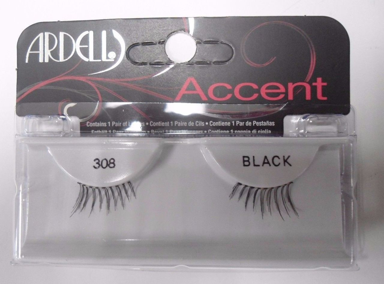 6b548463aa1 Ardell Strip Lashes Accent 308 Black (Pack of 6)