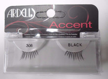 Ardell Strip Lashes Accent 308 Black (Pack of 6)