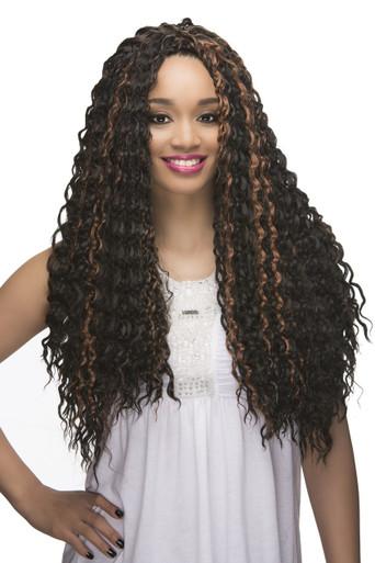 "Loose Deep Wave 22"" Crochet Braid 100% Kanekalon Hair Extensions (3-pack)"