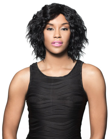 Foxy Lady Short Human Hair Full Wig - chance - wavy