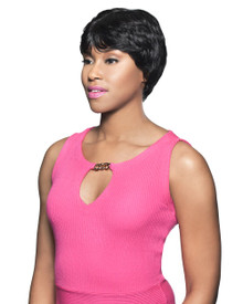 Foxy Lady Short Human Hair Full Wig - Yazz