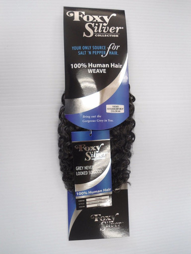 "10"" Salt n' Pepper Human Hair Jerry Curl Weave Track Grey Color 44"