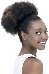 Clip on Synthetic Hair Drawstring Ponytail Afro PB-Puffy Hairpiece