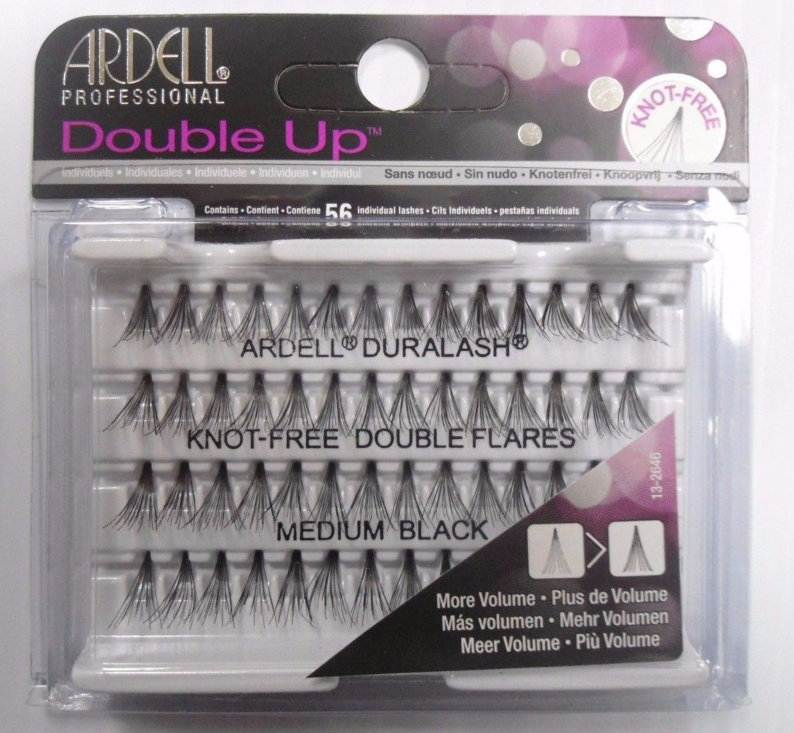 0e75af57ff7 Ardell Eyelash Knot Free Double Up Flares Individual Medium Black ...