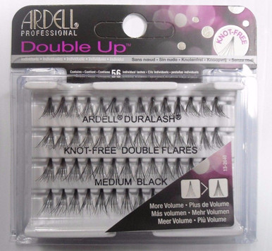 Ardell Eyelash Knot Free Double Up Flares Individual Medium Black (pack of 3)