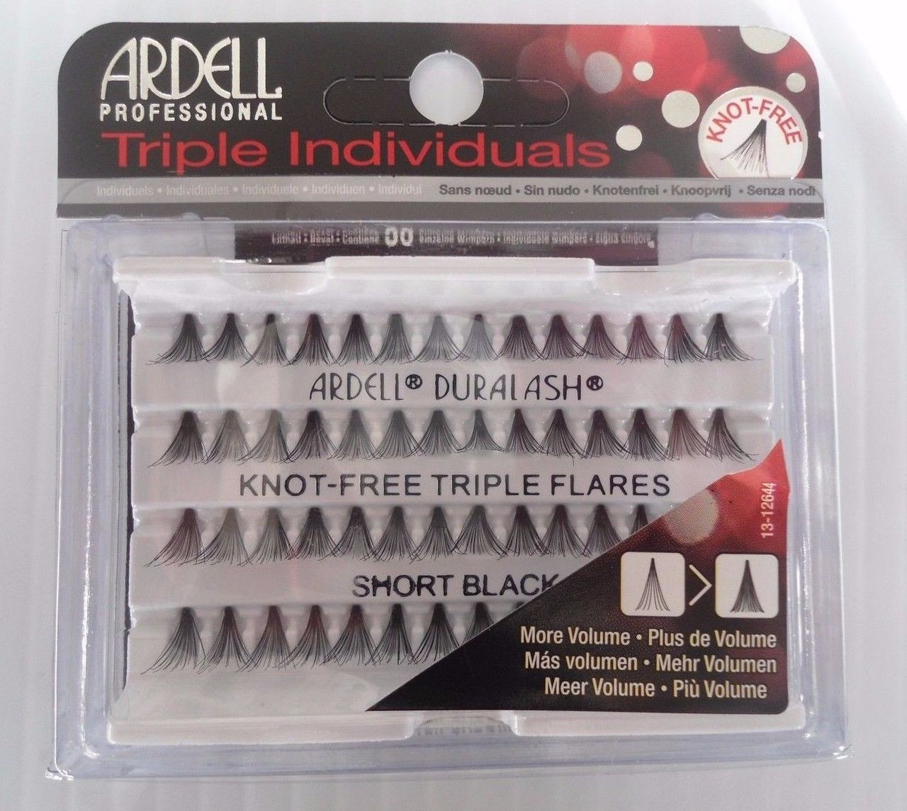 a7e9ce2ec5f Ardell Eyelash Knot Free Triple Flares Individual Short Black (pack of 2)