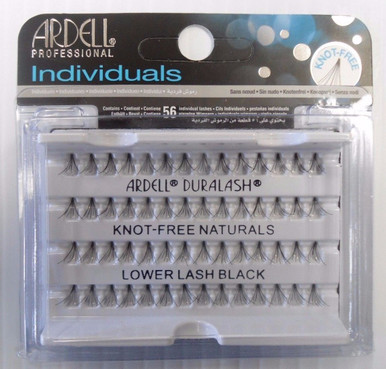 Ardell Eyelash Knot Free Lower Lash Individual Black (pack of 4)
