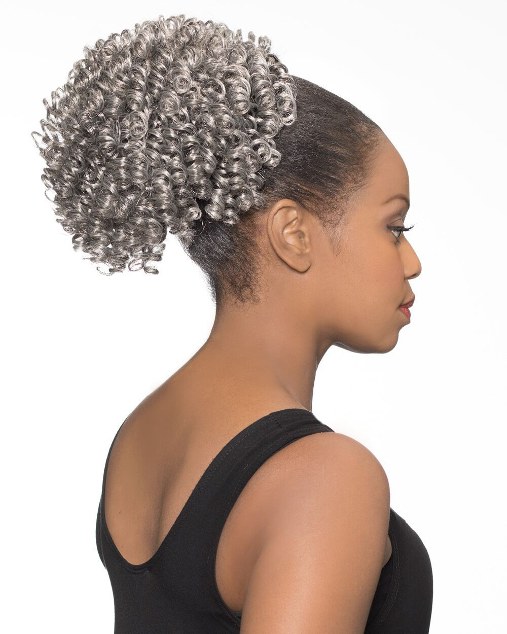 Foxy Silver Synthetic Hair Clip on Ponytail