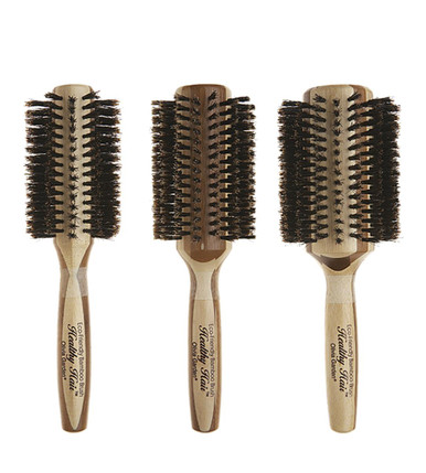 Olivia Garden Healthy Hair Boar Bristles Bamboo Brush 3-pc HH-B30 HH-B40 HH-B50