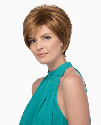 Estetica Pure Stretch Cap Short Full Wig Carina - Brown, Blonde and Gray Colors