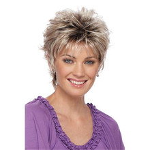 Estetica Pure Stretch Cap Short Full Wig Christa - Brown, Blonde and Gray Colors