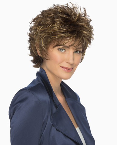 Estetica Pure Stretch Cap Short Full Wig Heidi - Brown, Blonde, & Gray