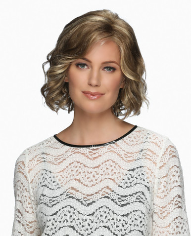Estetica Front Lace Line Wavy Wig Violet - Brown, Blonde, & Gray Colors