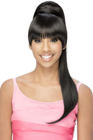 "Vivica 20"" Long Straight Yaki Clip & Bang and Ponytail BP-Loui Hairpiece"