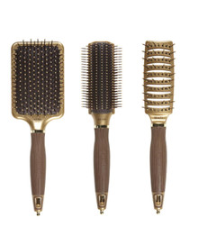 Olivia Garden NanoThermic Ceramic + Ion 3pc Hair Brush Deal NT-PDL NT-VTS NT-S9R