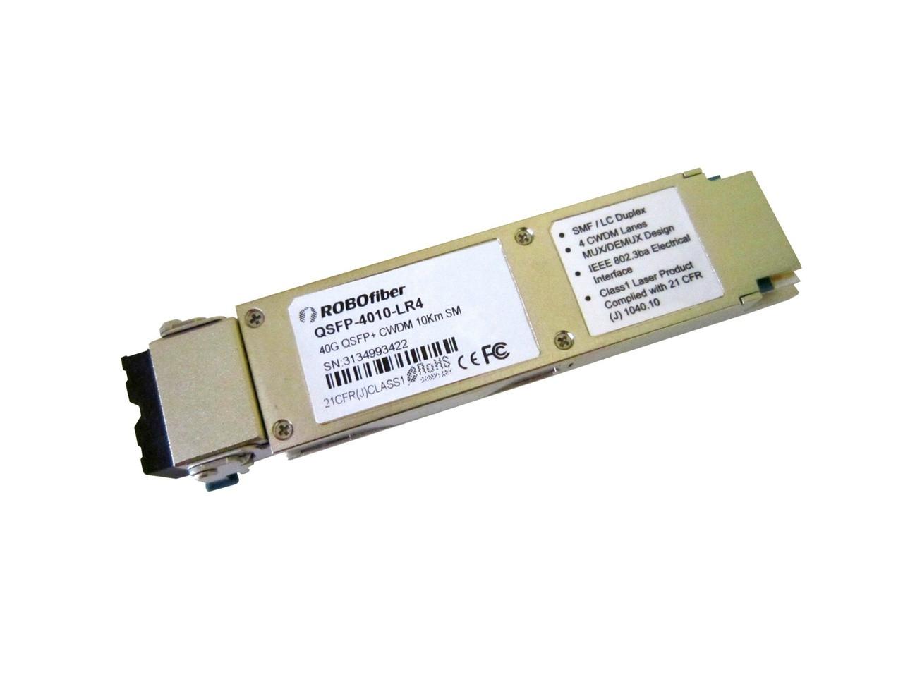 LR4 10Km single-mode 40G rate QSFP+ LC connector CWDM