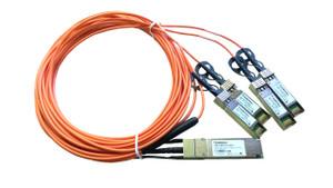 QSFP+ 40G to 4 SFP+ 10G quad fan-out active optical AOC cable 3m length