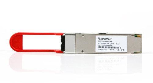 QSFP-4040-ER4 - ER4 long range 40Km single-mode 40G rate QSFP+ LC connector CWDM, front view