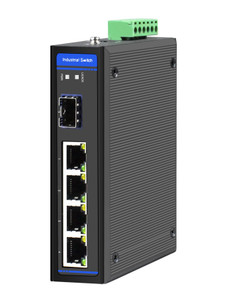 HGW-401S Gigabit Ethernet Industrial switch for extreme temperatures, -40 to +75 Celsius