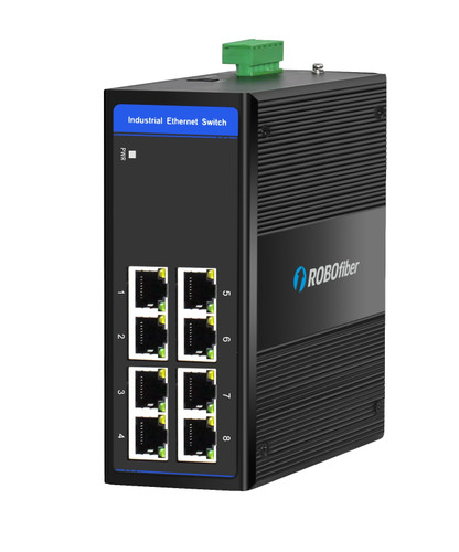 HSW-800 Fast Ethernet Industrial switch for extreme temperatures, -40 to +75 Celsius