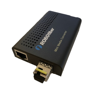 LFC-100-SFP-WB120 Fast Ethernet fiber media converter to simplex BiDi single-mode fiber, 120Km reach, T:1550/R:1310nm, LC connector