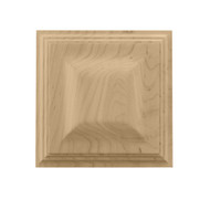 "CRV7106WO_3"" Sq Petite Triad Rosette White Oak"