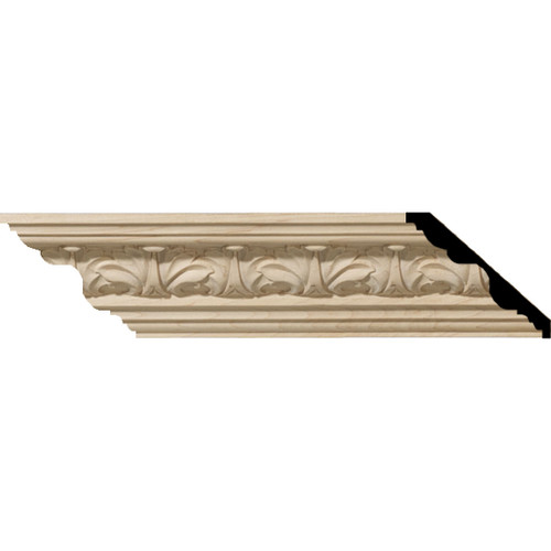 MLD02X02X03ACAL - Wood Crown Molding, Alder