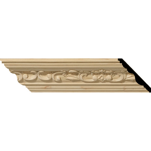 MLD02X02X03MEAL - Wood Crown Molding, Alder