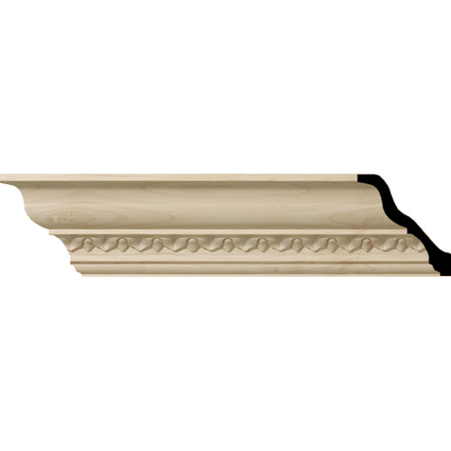 MLD03X03X05LAAL - Wood Crown Molding, Alder