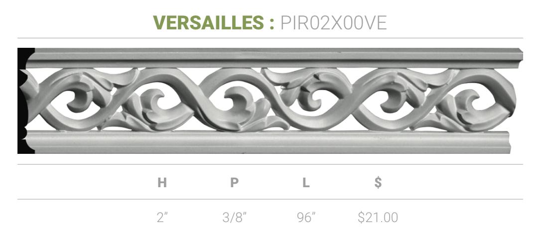 2 H X 3 8 P X 96 L Versailles Pierced Moulding Permalifeinc