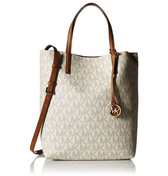 fdfea3ff3604 ... Michael Kors Hayley Large Logo North-South Tote - Vanilla -  30F6GH3T3V-149 … Image 1