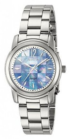 Invicta Womens Angel Mosaic Mother-of-Pearl Dial Stainless Steel Bracelet Wat...
