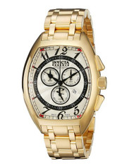 Invicta Reserve Tonneau Specialty Swiss Made Quartz Chronograph Stainless Steel Bracelet Watch