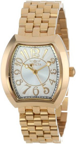 Invicta Women's 15039 Angel Silver Dial 18k Gold Ion-Plated Stainless Steel W...