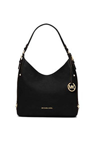 Michael Kors Bedford Large Leather Shoulder Bag BLACK