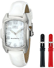 Invicta Women's 13612 Lupah Crystal-Accented Watch with Interchangeable Patent-Leather Band
