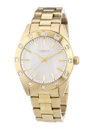 DKNY Ladies Stone Set Gold Tone Bracelet Watch NY8661 [Watch] DKNY