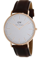 Daniel Wellington Men's 0106DW St. Mawes Analog Display Quartz Brown Watch