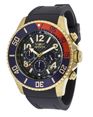 Invicta Men's 13730 Pro Diver Chronograph Black Carbon Fiber Dial Black Polyurethane Watch