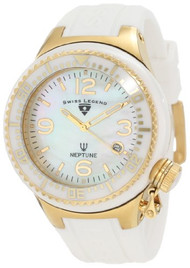 Swiss Legend Women's SL-11844-WWGA Neptune Goldtone White Mother-of-Pearl Dia...