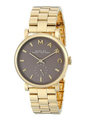 Marc by March Jacobs Baker Gold Tone Grey Dial Watch