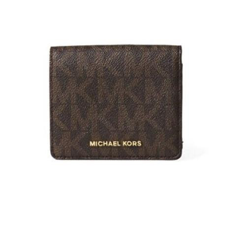 241e0be2db7705 ... Mk Jet Set Travel Signature Leather Wallet 32T6GTVD2B-200. Image 1