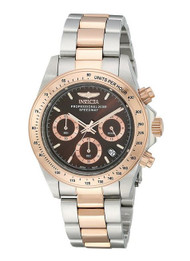 invicta 17029 Men's Speedway Chronograph Brown Dial Two Tone Stainless Steel