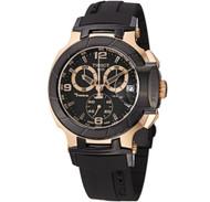 Tissot Men's T048.417.27.057.06 T-Sport Rose-Gold PVD Black Rubber Strap Watc...