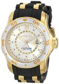 Invicta Men's 6995 Pro Diver Collection GMT Silver Dial Black Polyurethane Wa...