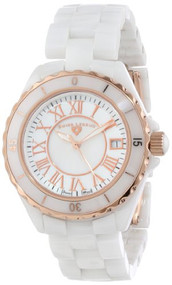 Swiss Legend Women's 20050-WWRR Karamica Collection White/Rose Ceramic Watch ...