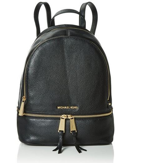 b517137a91f2 ... MICHAEL Michael Kors Rhea Zip Medium Leather Backpack, Black  30S5GEZB1L-001. Image 1