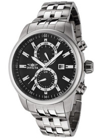 Invicta II Men's Swiss Quartz Dual Time GMT Stainless Steel Bracelet Date Wat...