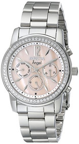Invicta Women's 11769 Angel Pink Mother-Of-Pearl Dial Cubic Zirconia Accented...